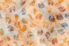 Fond âgé de vintage de style ancien avec les fleurs de loup pressées sèches Illustration avec le stylization en pastel de peintur Photos libres de droits