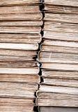 Fond âgé par vintage classique de pile de livres de lecture Photo libre de droits