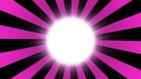 Fond éclaté rose Fond comique avec l'espace pour votre logo ou titre Modèle du soleil de style de cru de rayon de soleil rétro