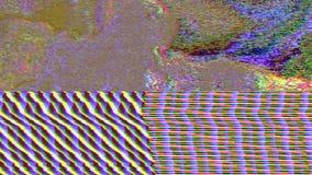 Fond éclatant rêveur de mauvais Cyberpunk géométrique d'imitation de TV illustration de vecteur