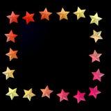 Fond élégant avec les étoiles colorées et endroit pour le texte Images libres de droits