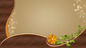 Fond élégant de Brown avec des fleurs Images libres de droits