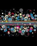 Fond élégant de cercles. illustration stock