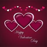 Fond élégant de jour de valentines Photographie stock libre de droits
