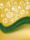 Fond élégant de Joyeux Noël. ENV 8 Photos stock