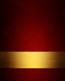 Fond élégant de Noël de rouge et d'or Photos libres de droits