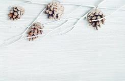 Fond élégant de Noël sur le bois blanc Image stock