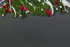 Fond élégant de Noël sur le papier noir Photo libre de droits