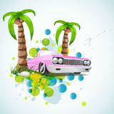 fond élégant de vacances d'été Photos libres de droits