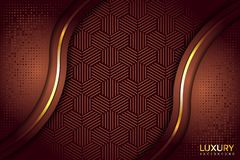 Fond élégant luxueux d'or de Brown illustration libre de droits