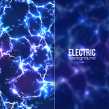 Fond électrique avec transparent en plastique Photos stock