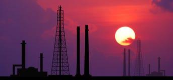 Fac électrique d'affaires industrielles d'industrie de centrale électrique de centrale Image libre de droits