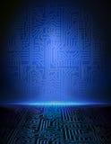 Fond électronique bleu de vecteur. Photo libre de droits