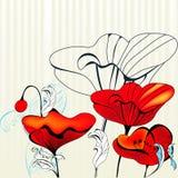 Fond éliminé avec des fleurs Photographie stock