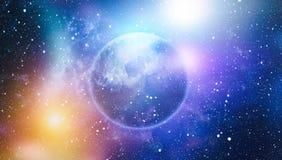 Fond étoilé coloré d'espace extra-atmosphérique de ciel nocturne Photos libres de droits