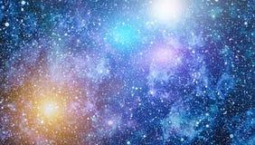 Fond étoilé coloré d'espace extra-atmosphérique de ciel nocturne Photo libre de droits