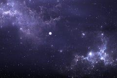 Fond étoilé de l'espace de ciel nocturne avec la nébuleuse Photo stock