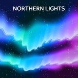 Fond étoilé de lumières du nord illustration libre de droits