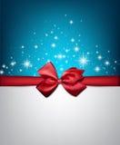Fond étoilé de Noël d'hiver Images libres de droits