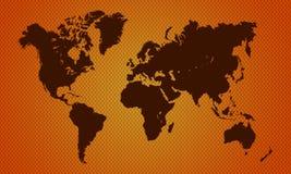 Fond étonnant avec la carte de la terre Image libre de droits