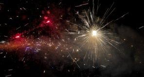 Fond étonnant d'espace lointain - fermez-vous vers le haut des feux d'artifice Images stock