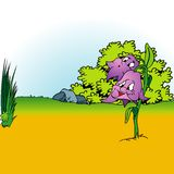 Fond 04 de dessin animé Image libre de droits