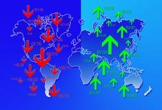 Fond 2 d'économie Image libre de droits
