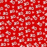 Fond 2 de coeurs du jour XO de Valentine Images libres de droits
