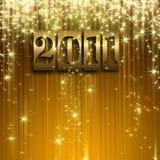 Fond 2011 de célébration d'or Photographie stock libre de droits