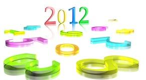 fond 2012 de l'an 3D neuf Image stock