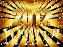 Fond 2012 de rayon de soleil d'or Photos stock