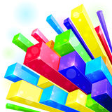 fond 3d abstrait Images stock