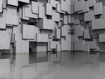 fond 3D architectural modèle Images stock