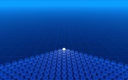 Fond 3D bleu illustration libre de droits