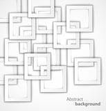 Fond 3D géométrique carré abstrait illustration de vecteur
