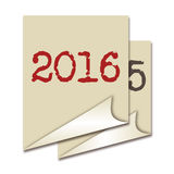 Fond 2016 Photo stock