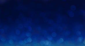 Fond abstrait élégant bleu de bokeh Photos stock