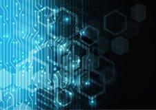 Fond abstrait électrique bleu, devise électrique, futurologue Images stock