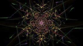 Fond abstrait - étoile de lampe au néon photos stock
