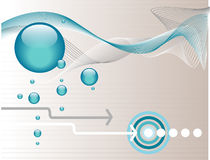 Fond abstrait aquatique Image stock