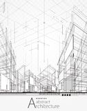 Fond abstrait architectural illustration libre de droits