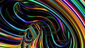 Fond abstrait au néon clips vidéos