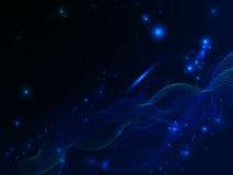 Fond abstrait au néon noir et bleu avec des lignes Photographie stock