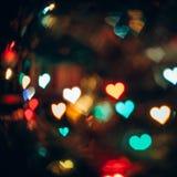 Fond abstrait avec Bokeh dans la forme des coeurs Image libre de droits