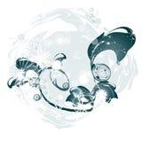 Fond abstrait avec de l'eau Image stock