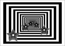 Fond abstrait avec des étoiles Image stock