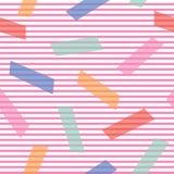 Fond abstrait avec des blocs de couleur sur le modèle géométrique décoratif de vecteur sans couture mince de rayures illustration stock