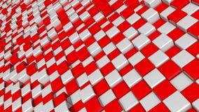 Fond abstrait avec des blocs de places rouges et blanches illustration libre de droits