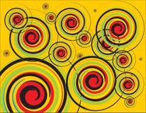 Fond abstrait avec des cercles Photo libre de droits