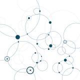 Fond abstrait avec des cercles et des points Concept de connexion Illustration de vecteur Images stock